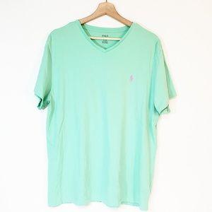 Polo Ralph Lauren Mens V Neck Tee Shirt Large